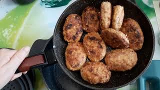 ГОТОВИМ ДОМА. Гороховое пюре, мясные-овощные котлеты. Уральские горы