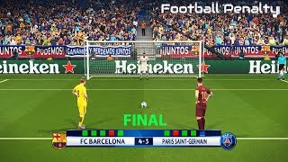 BARCELONA vs PSG | UEFA Champions League Final | Penalty Shootout | PES 2018 Gameplay PC