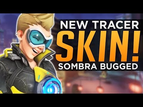 Overwatch: NEW Tracer & Soldier SKINS! - Sombra Hack BUGGED!