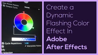 Flashing Color Effect In After Effects