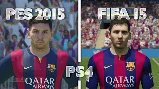 FIFA 15 vs PES 2015 | Graphics Comparison - PS4 Gameplay