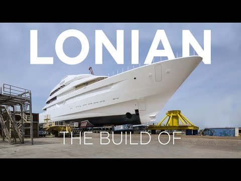 4K Time-lapse of 87m /285ft Superyacht Lonian | Feadship