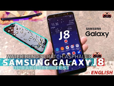 Samsung Galaxy J8 Durability Review - Bend Test Water Scratch Asphalt 8 Test