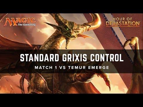 [MTG] Standard Grixis Control | Match 1 VS Temur Emerge