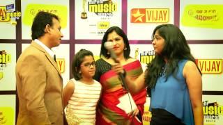 MIRCHI MUSIC AWARDS SOUTH 2014 – UTHARA UNNI KRISHNAN ON THE RED CARPET OF MIRCHI MUSIC AWARDS 2014 Vijay tv 06-09-2015