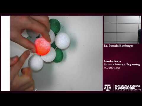 FCC structure {Texas A&M: Intro to Materials}