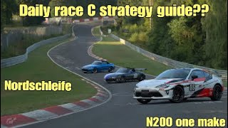 Gt sport daily race C strategy guide...Nordschleife....N200 one make
