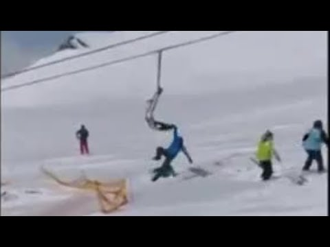 Ski-lift Failure Sends People Flying In Country Of Georgia
