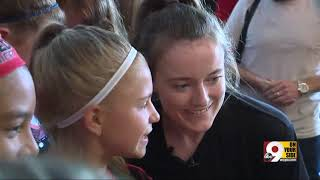 Rose Lavelle, Cincinnati's World Cup star, gives hometown fans extra serving of charm