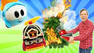 Мультики про машинки и игрушки Щенячий Патруль. Грузовичок Лева и Пожарная Машинка тушат пожар!