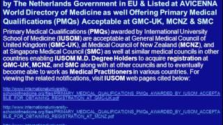 PreMed Admissions for May 2013 Semester at IUSOM: Listed at AVICENNA Directory