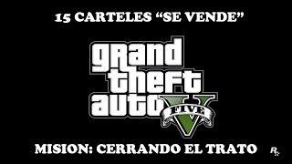 """GTA V - Todos los carteles """"Se vende"""" - Misión """"Cerrando el trato"""""""