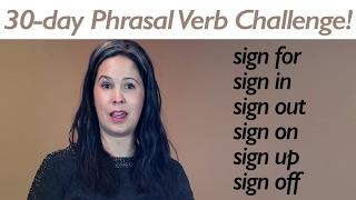 PHRASAL VERB SIGN