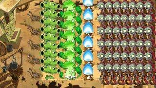Plants vs Zombies 2 - Split Pea, Torchwood vs 999 Zombies