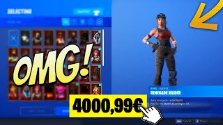 VOICI ALL MY FORTNITE COMPTE at 4000 euros (SKIN RENEGADE RAIDER) and PRESENTATION of ALL my CASIER!😱