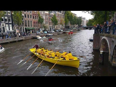 Grachtenrace 2016 - Alle sloepen! - Sloeproeien Amsterdam!