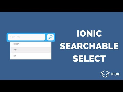 Adding an Ionic Searchable Select Component [DEPRECATED]
