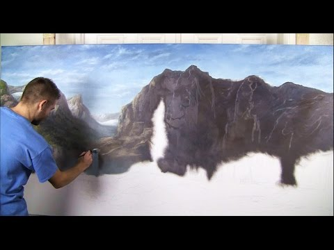 Sunlit Mountains | Gallery Masterpiece, Landscape Painting [part 1]