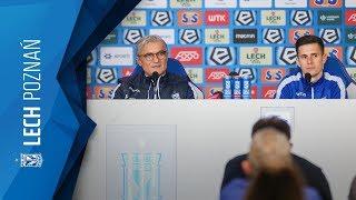 Konferencja prasowa przed meczem z Wisłą: trener Adam Nawałka i Volodymyr Kostevych