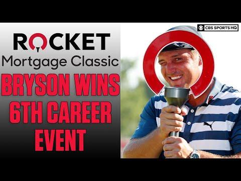 Bryson DeChambeau wins Rocket Mortgage Classic on the PGA Tour, Matthew Wolff 2nd | CBS Sports HQ