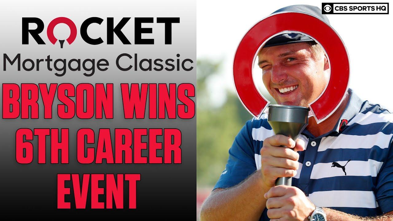 Bryson DeChambeau wins Rocket Mortgage Classic after bulking ...