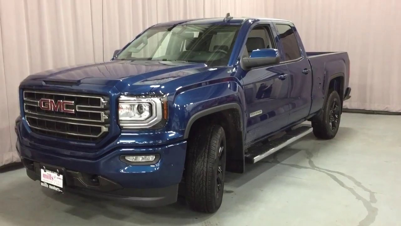 2017 gmc sierra 1500 4wd double cab elevation edition blue oshawa on stock 170271 youtube. Black Bedroom Furniture Sets. Home Design Ideas