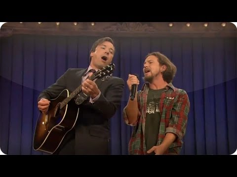 """""""Balls In Your Mouth"""" With Jimmy Fallon & Eddie Vedder (Late Night with Jimmy Fallon)"""