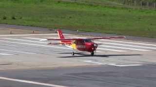 Cessna C210 Centurion PR–COB (Arcanjo 02) takeoff at SBBH/PLU