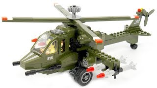 Enlighten Brick Combat Zones 818 Helicopter