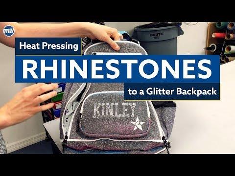how-to-heat-press-rhinestones-to-a-glitter-backpack