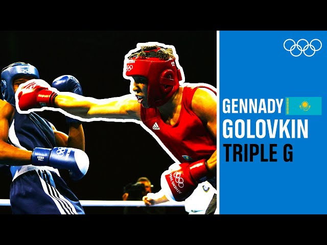 A 22-year-old Gennady Golovkin wins silver at Athens 2004!
