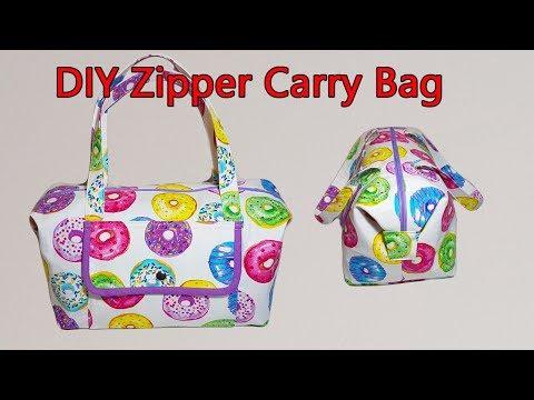 CARRY ALL BAG TUTORIAL   DIY OVERNIGHT BAG   WEEKEND BAG  BAG SEWING TUTORIAL