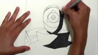 naruto tobi easy drawing