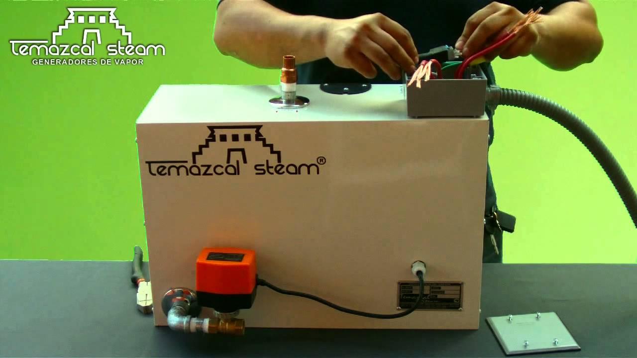 Instalacin de equipo de vapor Temazcal Steam en 6 minutos