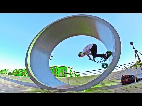 FULL CIRCLE FULL PIPE ON A MINI BMX!(LOOP)