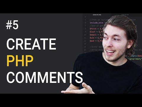 5: How to write comments in PHP - Learn PHP backend programming