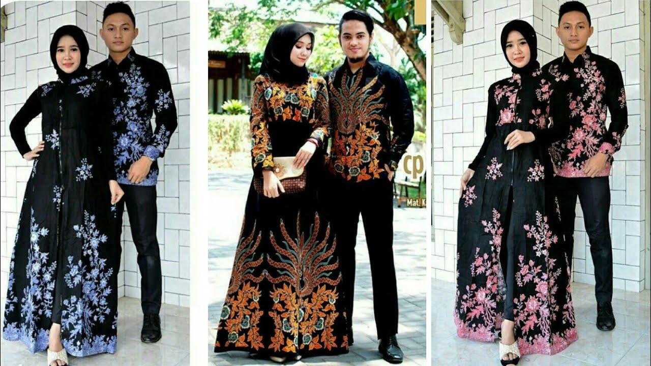 11 Model Baju Gamis Batik Couple Terbaru 11/11