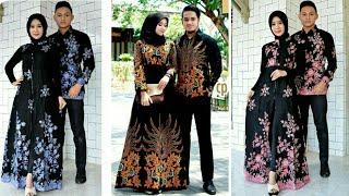 16 Model Baju Gamis Batik Couple Terbaru 2019 2020 Youtube