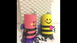 Пчелка из цветной бумаги. Поделки для детей//How to make papercraft bee