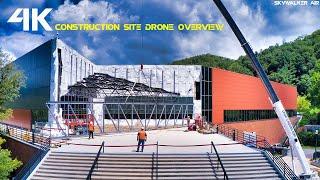 4K Drone Construction Site Overview