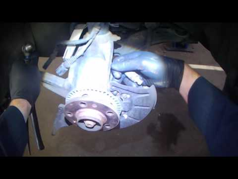 VW A4: Front ABS speed sensor removal