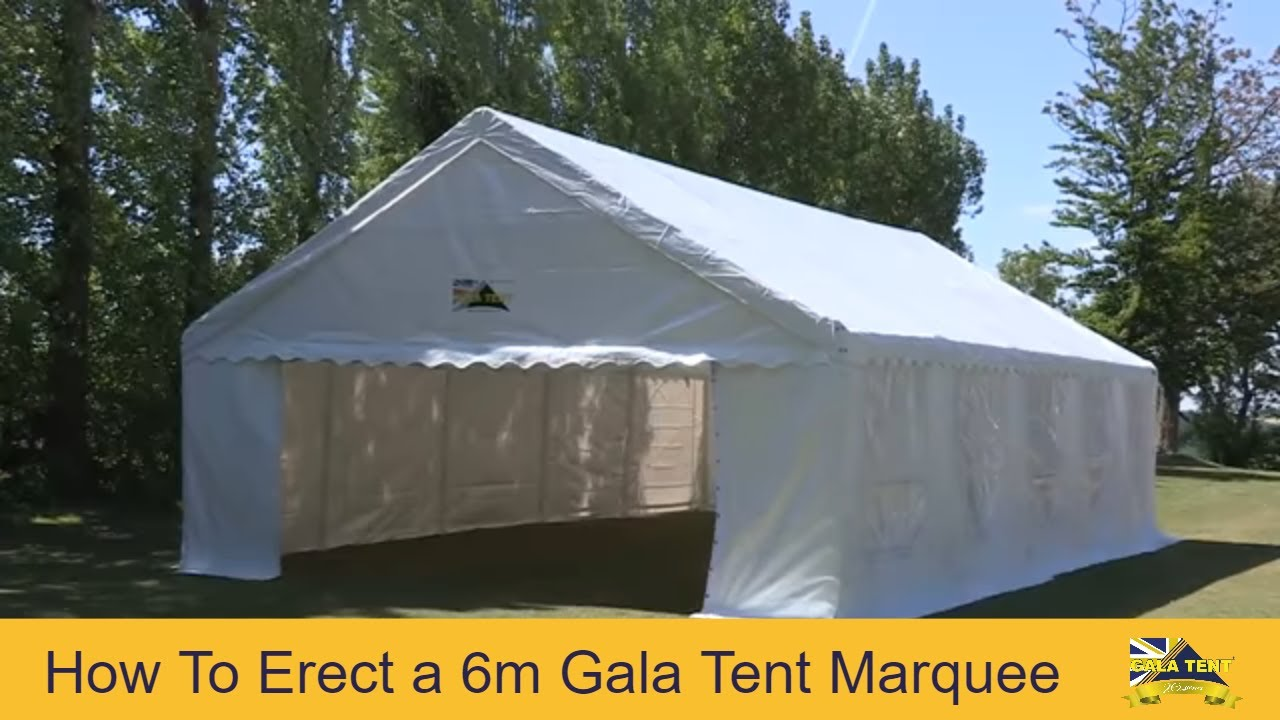 6m Span Gala Tent Garden Marquee PVC (How To Erect Video Guide) - YouTube & 6m Span Gala Tent Garden Marquee PVC (How To Erect Video Guide ...