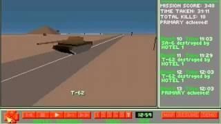 Gunship 2000 PC DOS game Mission 2: on road to campaign