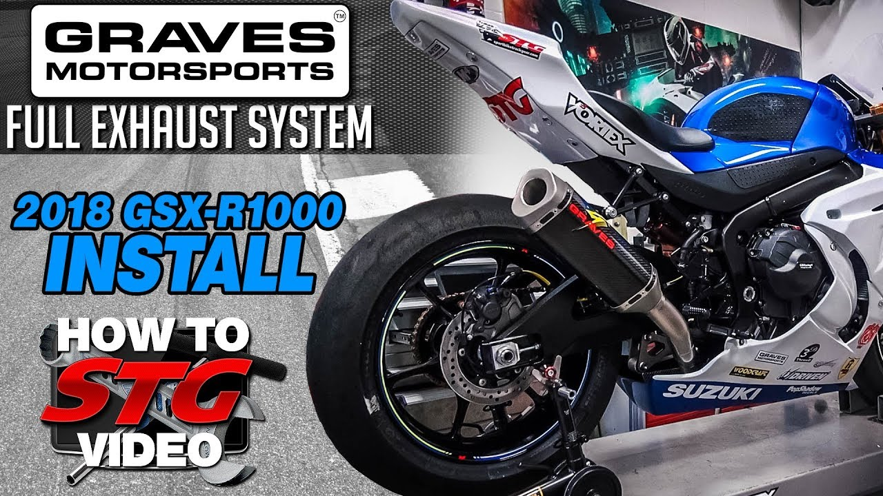 Graves 2018 Suzuki GSX-R1000 Titanium Full Exhaust System Install    Sportbike Track Gear