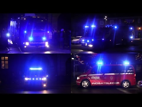 64 emergency vehicles: New Year's Eve in Copenhagen
