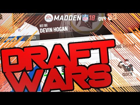 2nd Overall Player in the Draft! Madden 18 Connected Franchise Draft Wars vs PerramCrowe and Dusto