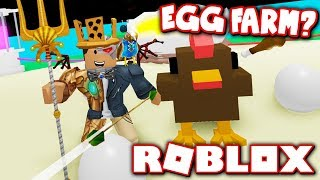 *NEW* EGG FARM SIMULATOR!! HATCH CHICKENS BY... HUNTING CHICKENS?! (Roblox)