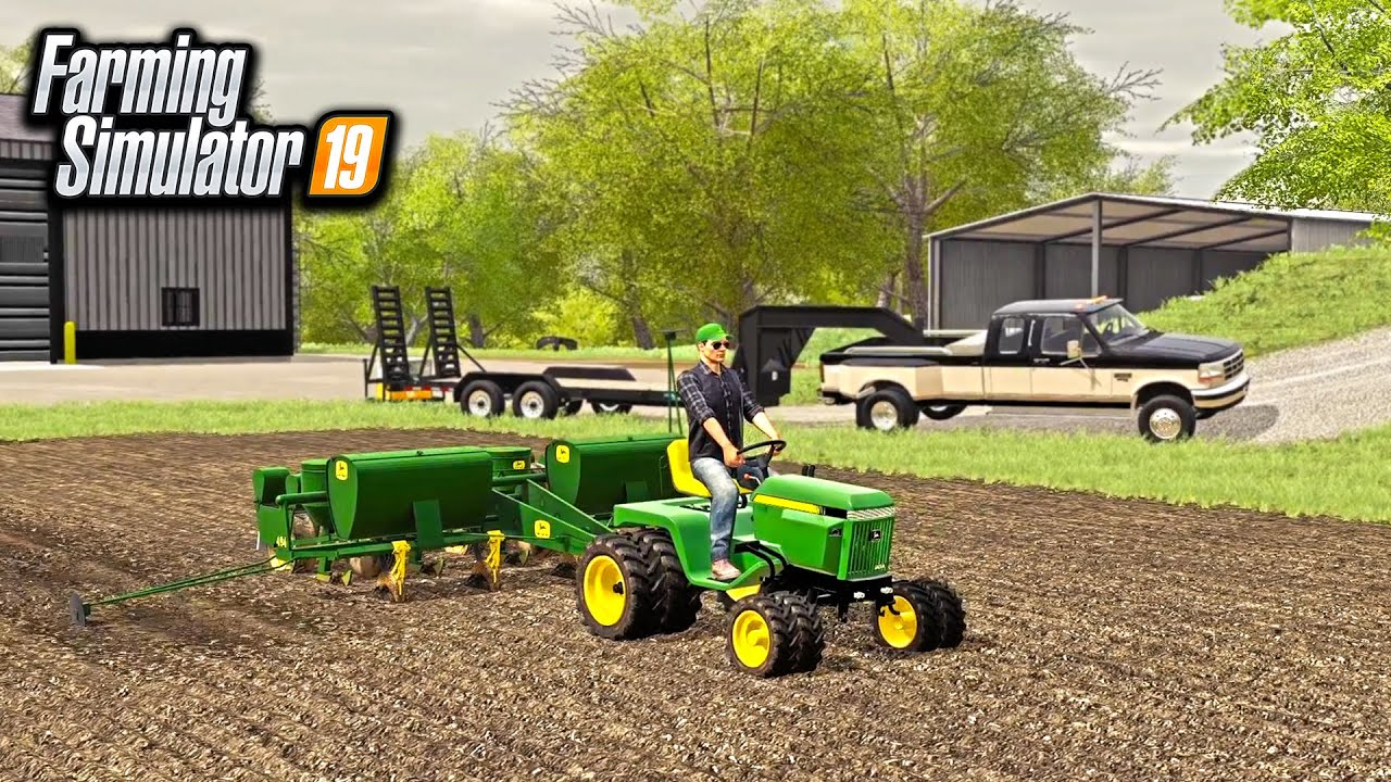 NEW MINI JOHN DEERE TRACTOR! (PLANTING SWEET CORN) | FARMING SIMULATOR 2019
