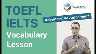 TOEFL Vocabulary: advance, advancement