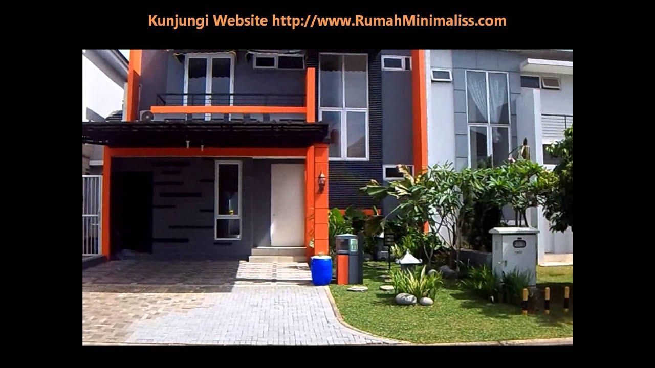 Rumah  Minimalis  2 Lantai Kanopi  YouTube